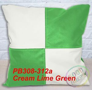 Pb Mixed Color Checker Soft Faux Leather Cushion Cover/Pillow Case Custom Size