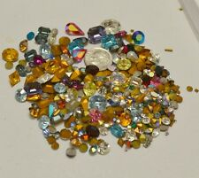 Huge Lot 400 + Swarovski Crystal Rhinestones Repair Jewelry Clay Loose Mixed Lot