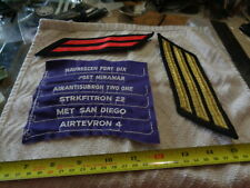 10 Military Patches some new and some used (Box Pin Bags Bag#B49)