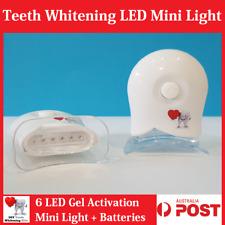Teeth Whitening Gel Activation 6 LED Mini Light + Batteries. Hi Bright New Smile