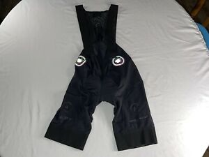 Lightweight Edelstoff 'Regroup Coffee + Bicycles' Cycling Bib Size Large Black