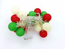 20 LED Colorful Cotton Ball LED String Christmas Wedding Party Fairy Lights 3M
