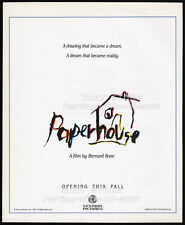 PAPERHOUSE__Original 1988 print AD_movie promo_poster__GLENNE HEADLY__BEN CROSS