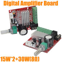 Mini HI-FI High power 2.1 DC10-18V Digital Amplifier Board 15W*2+30W Class D