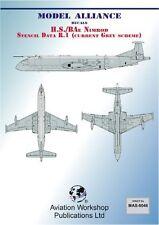 Model Alliance 1/72 BAe Nimrod Mr. 1 PLANTILLA datos (Corriente Gris Scheme) #