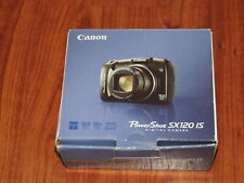 Open Box - Canon PowerShot SX120 HS 10.0 MP Camera - BLACK - 013803114201