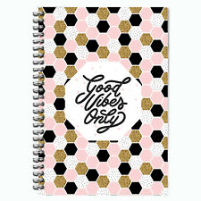 Food Diary WEIGHT WATCHERS Points Journal Planner Book 3mth Diet Good Vibes Only