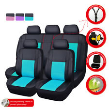 Universal Car Seat Covers Mint Car Seat Cover Set Leather Airbag Rear Split Fit