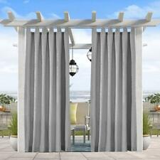 Privacy Outdoor Single Window Curtain Panel 50x120Inch,Uv Ray 1 Panel,Grey Color