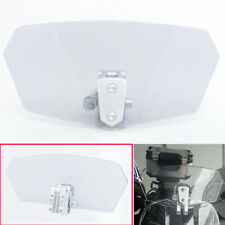 Clip On Windshield Extension Spoiler Wind Deflector Adjustable For Motorcycle