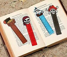 48 Pirate Vinyl Ruler Bookmarks for Kids Party Bag Fillers