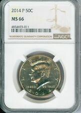 2014-P KENNEDY HALF Dollar NGC MS 66 DE@L