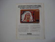 advertising Pubblicità 1975 TELEVISORE SABA ULTRACOLOR