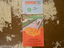 VINTAGE TOLL MAP - 1970 - Indiana Toll Road Map