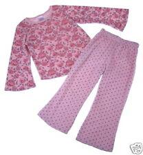 Painting Red Rhinos Pink Roses Top Pants Set 4-5