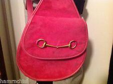 HOT PINK Leather GUCCI One Shoulder SLING Bag