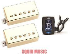 Seymour Duncan SH-4 JB & SH-2 Jazz Hot Rodded Gold Set ( FREE GUITAR TUNER )
