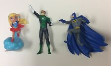 Batman Green Lantern & Super Girl Great Action Posed Figures Dc Universe 3 Total