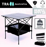 Camping Table 4Person Roll up Foldable Card Table Aluminium Lightweight Portable