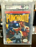Punch-Out Nintendo NES Brand New H-Seam Factory Seal WATA VGA Graded Silver 80+