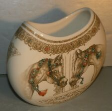 NEW Vase Demi-Lune , Chevaux du Vent From GIEN