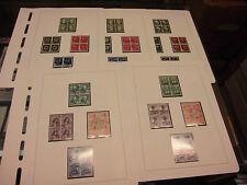 Sammlung Schweiz VIERERBLOCK gestempelt Juventute 1938 1939 1943 1944 ++  (1342)