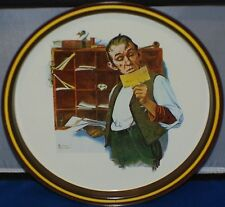 Norman Rockwell Postal Collectors Tray 1976