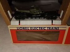 LIONEL ELECTRIC TRAINS/US NAVY FLATCAR WITH  ERTL HELICOPTER 6-16952