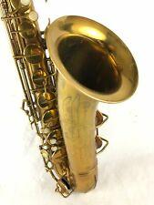 Conn 10m 271xxx Naked Lady Tenor Saxophone w/Rolled Tone Holes!