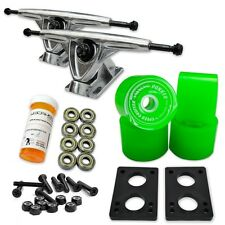 HD7 Longboard Combo set - Polished trucks (Solid Green)