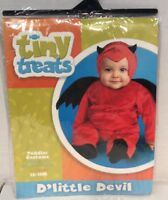 Halloween Lil Devil Toddler Costume Baby 12-18 Months BodysuitWings Hat