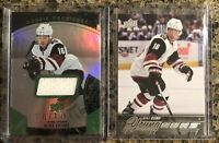 Max Domi Rookie Card Lot (2) Young Guns Premieres Jersey #'d/599 Level 1