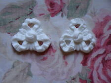 Shabby & Chic French Bow Medallion 2 pcs. Furniture Applique Pediment