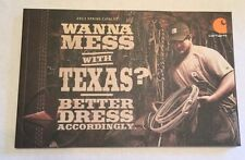 "2013 Carhartt Spring Catalog, New ""Wanna Mess With Texas? >Free Shippng<"