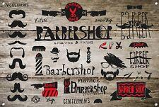 Barber Shop Letrero metal Decor Decoración De Pared Placas 1006