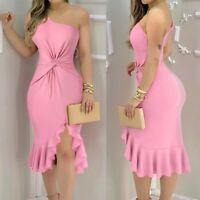 Women Sexy Slim Maxi Dress Lady Bodycon Nightclub Off Shoulder Ball Gown Dresses