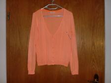 AJC Damen Longstrickjacke neon-orange