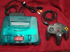 Ice Blue Nintendo 64 N64 Console REGION FREE  with expansion pak