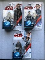 DISNEY/STAR WARS THE LAST JEDI LOT OF 3: LUKE SKYWALKER, GENERAL LEIA, & REY NEW