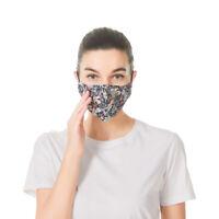 Cotton Face Mask Adjustable Mouth Mask Double Layered Washable Reusable Adult UK