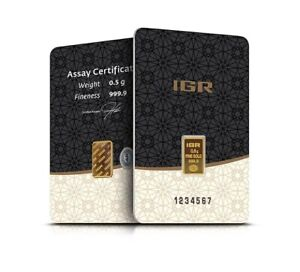 1/2 Gram Gold Bar in Assay | IGR | .9999 | Volume Pricing