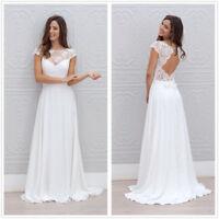Fairy Bohemian Beach Wedding Dress Cap Sleeve Sheer Neck Top A Line Bridal Gowns