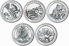 2012 US National Park Quarters Five Coins Uncirculated Straight from the US Mint