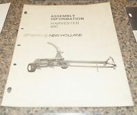 Sperry New Holland 892 Harvester Assembly Information Manual Book
