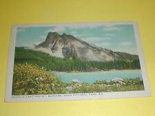 Emerald Lake and Mt Burgess Yoho National Park B.C.Postcard Canada 1960
