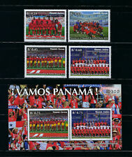 2019 PANAMA 4 STAMPS SOCCER FUTBOL FIFA WORLD CUP RUSSIA 2018  + SOUVENIR SHEET