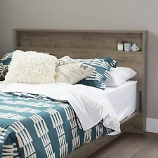 Headboard FULL/QUEEN Size Platform Beds OR Metal Bed Frame Rustic Finish Oak