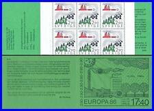 SWEDEN 1986 EUROPA-CEPT  booklet SC#1606a MNH