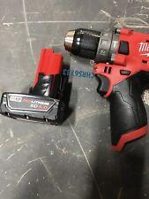 """New Milwaukee 2504-20 M12 12v Fuel 1/2"""" Brushless Hammer Drill 4.0 Battery"""