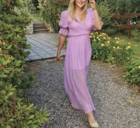 H&M Conscious Collection Lilac Maxi Dress Size: 16 Sold Out
